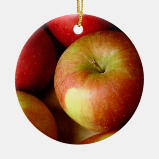 Red and Yellow Apples Christmas Ornaments