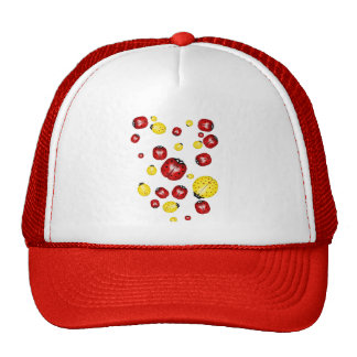 Red and Yellow Bugs  Hat