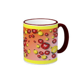 Red and Yellow Bugs  Mug