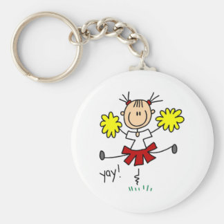 Red and Yellow Cheerleader T-shirts and GIfts Key Ring