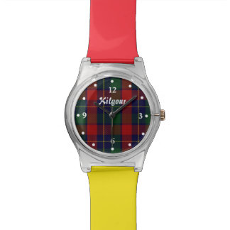 Red and Yellow Clan Kilgour Custom Watch