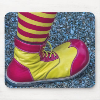 Red and yellow clown shoe mousepad