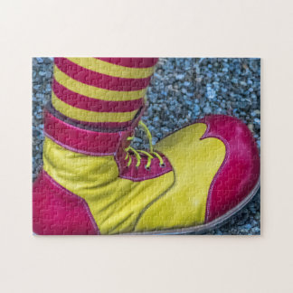 Red and yellow clown shoe photo puzzle