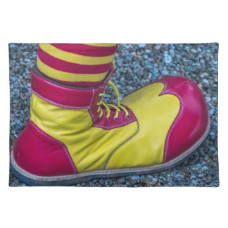 Red and yellow clown shoe placemat