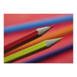 Red-and-yellow-crayons1412 PENCIL CRAYONS COLORFUL 13 Cm X 18 Cm Invitation Card