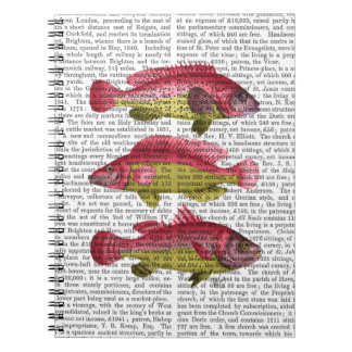 Red and Yellow Fantasy Fish Trio Notebook