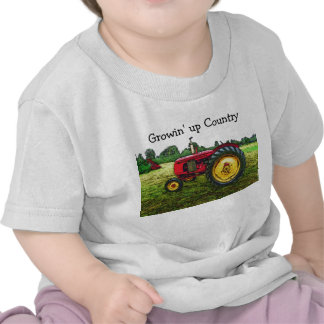 Red and Yellow Farm Tractor T Shirt