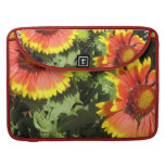 "Red and Yellow Flowers 15"" MacBook Sleeve Sleeve For MacBooks"