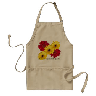 Red and Yellow Gerber Daisy Close Up Photographs Standard Apron
