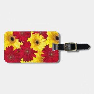 Red and Yellow Gerber Daisy Photograph Luggage Tag