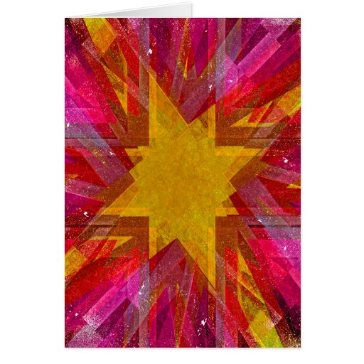 Red and yellow grunge explosion card