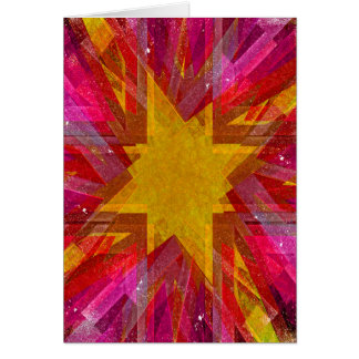 Red and yellow grunge explosion greeting card