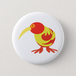Red and Yellow Kiwi 6 Cm Round Badge