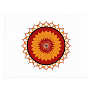 Red and Yellow Lotus Flower Postcard
