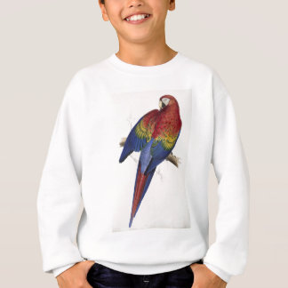 Red and yellow maccaw sweatshirt