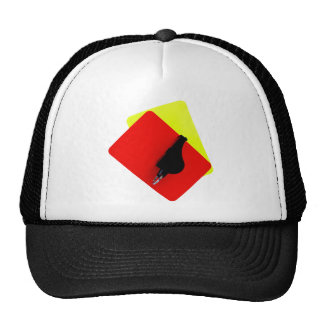 red and yellow map mesh hat