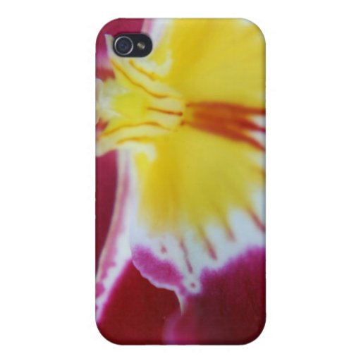 Red and Yellow Orchid Cases For iPhone 4