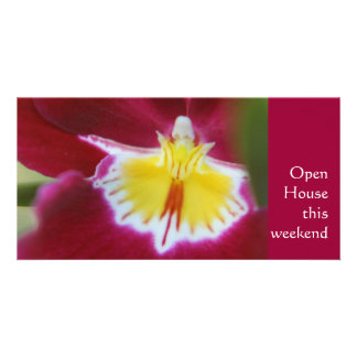 Red and Yellow Orchid Photo Card Template