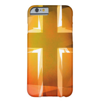 Red and yellow religious cross barely there iPhone 6 case