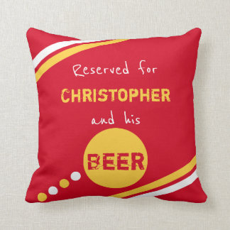 Red and yellow reserved for beer cushion