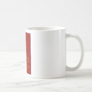Red and Yellow Ribbon Tree Coffee Mug