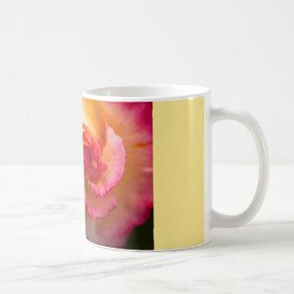 Red and yellow rose flower coffee mug
