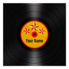 Red and Yellow Stars Personalised Vinyl Record Poster
