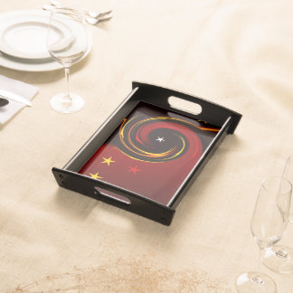 Red and Yellow Stars Service Trays