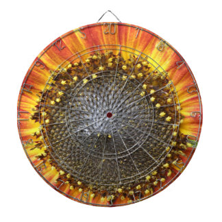 Red and Yellow Sunflower Dart Board