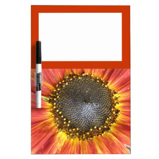 Red and Yellow Sunflower Memo Board