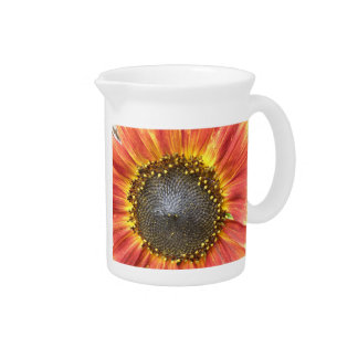 Red and Yellow Sunflower Pitcher