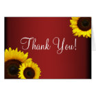 Red and Yellow Sunflowers Thank You Card