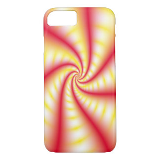 Red and Yellow Swirl iPhone Case