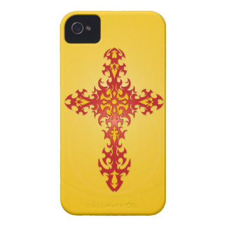 Red and Yellow Tribal Gothic Cross iPhone 4 Cover