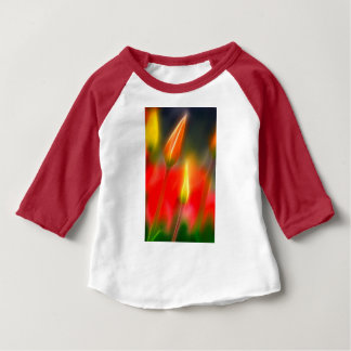 Red and Yellow Tulip Glow Baby T-Shirt