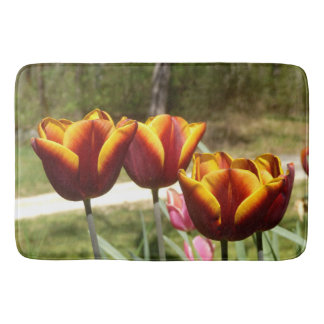 Red and Yellow Tulips Bath Mat
