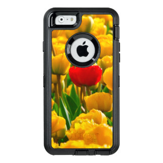 Red And Yellow Tulips Field Of Flowers. OtterBox Defender iPhone Case