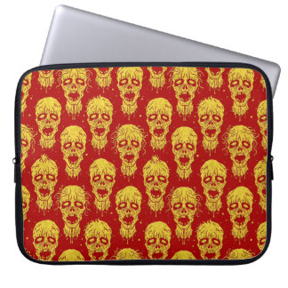 Red and Yellow Zombie Apocalypse Pattern Laptop Sleeve