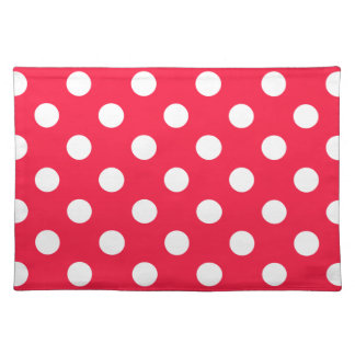 Red andd white polka dots placemats