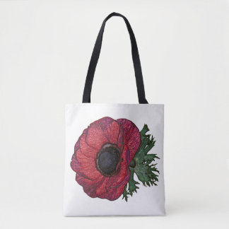 Red anemone2 Tote Bag