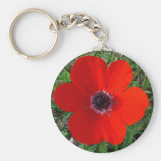 Red anemone key chains