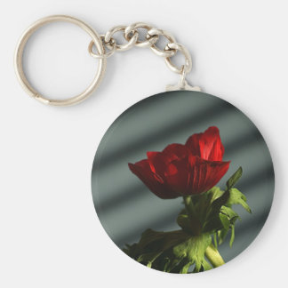 Red Anemone Key Chain