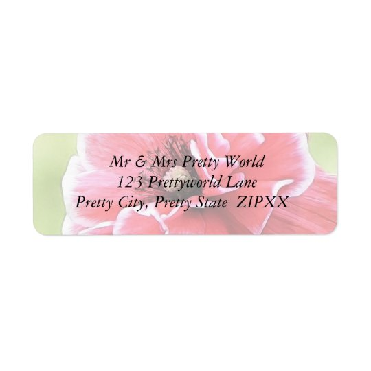 Red Angel's Choir Poppy Return Address Label