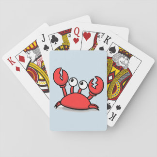 Red animated Crab Playing Cards