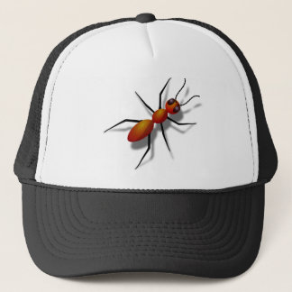 Red Ant Crawling Trucker Hat