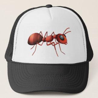 Red ant design trucker hat