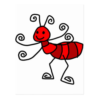 Red ant postcard