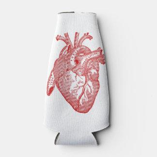 Red Antique Anatomical Heart Bottle Cooler