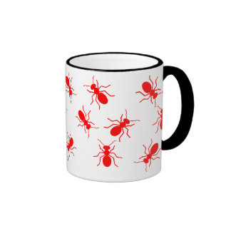 Red Ants Swarm Cartoon Mug