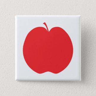 Red Apple. 15 Cm Square Badge